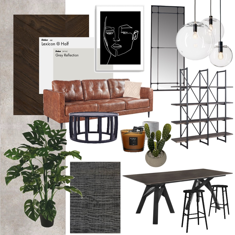 industrial dining room Interior Design Mood Board by abbyawilliams on Style Sourcebook