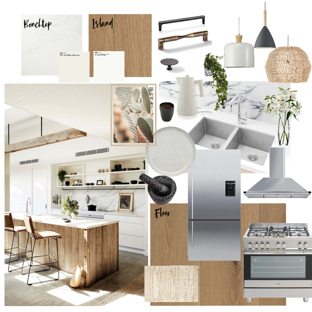 kitchen two tone flat cabinet Interior Design Mood Board by NatalieDee on Style Sourcebook