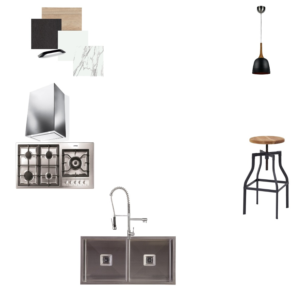 Achromatic Kitchen Interior Design Mood Board by neatbydesign on Style Sourcebook