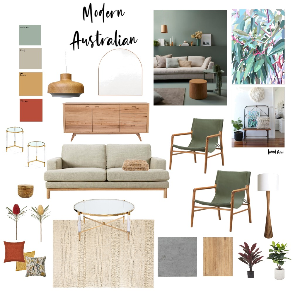 Modern Australian Living Room Interior Design Mood Board by Brooklyn Interior Design on Style Sourcebook