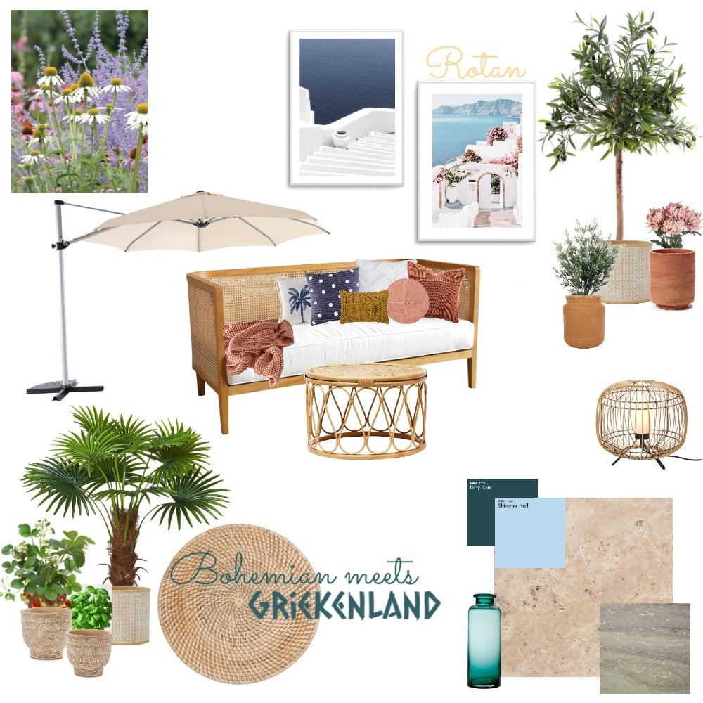 Bohemian backyard Interior Design Mood Board by KellyElisa on Style Sourcebook