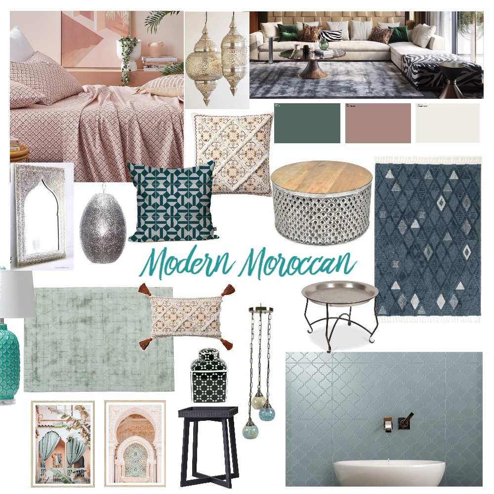 Modern Moroccan Interior Design Mood Board by DiTaylor on Style Sourcebook