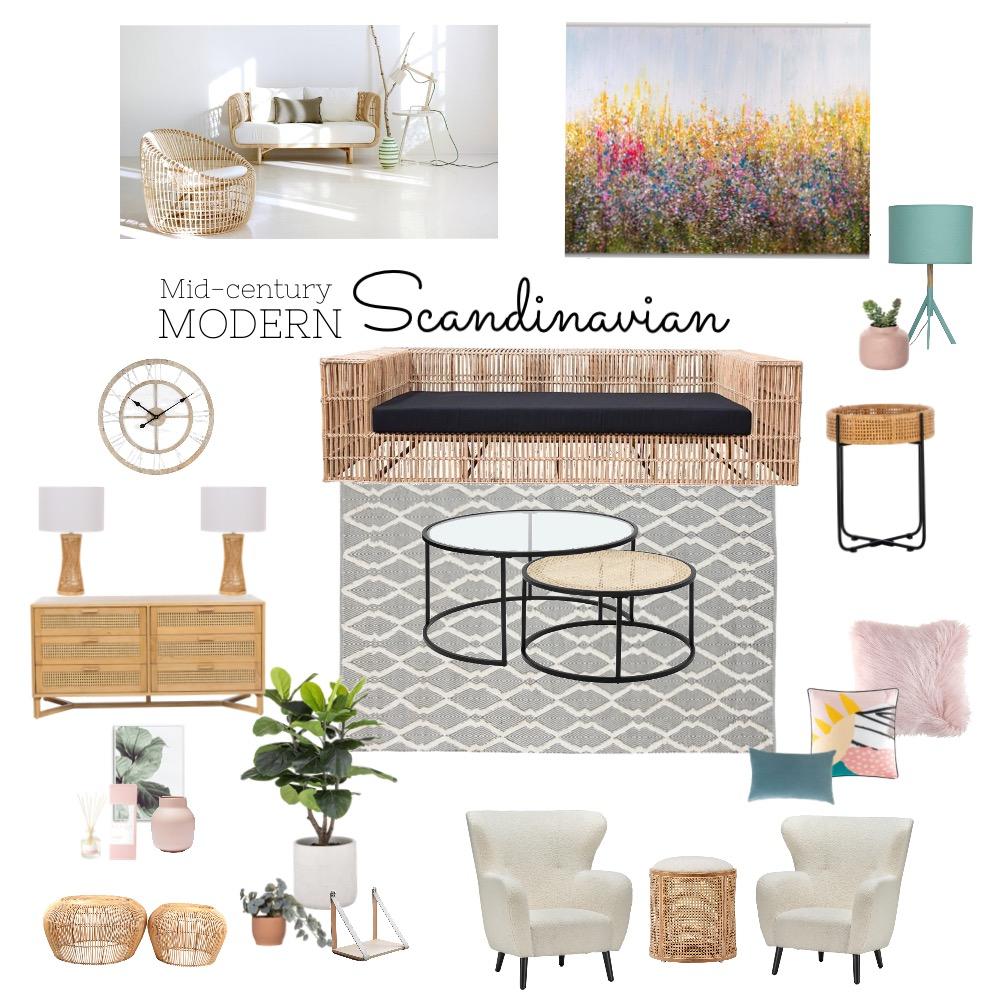 Mid Century Modern Scandinavian Interior Design Mood Board by Tetsolomon on Style Sourcebook