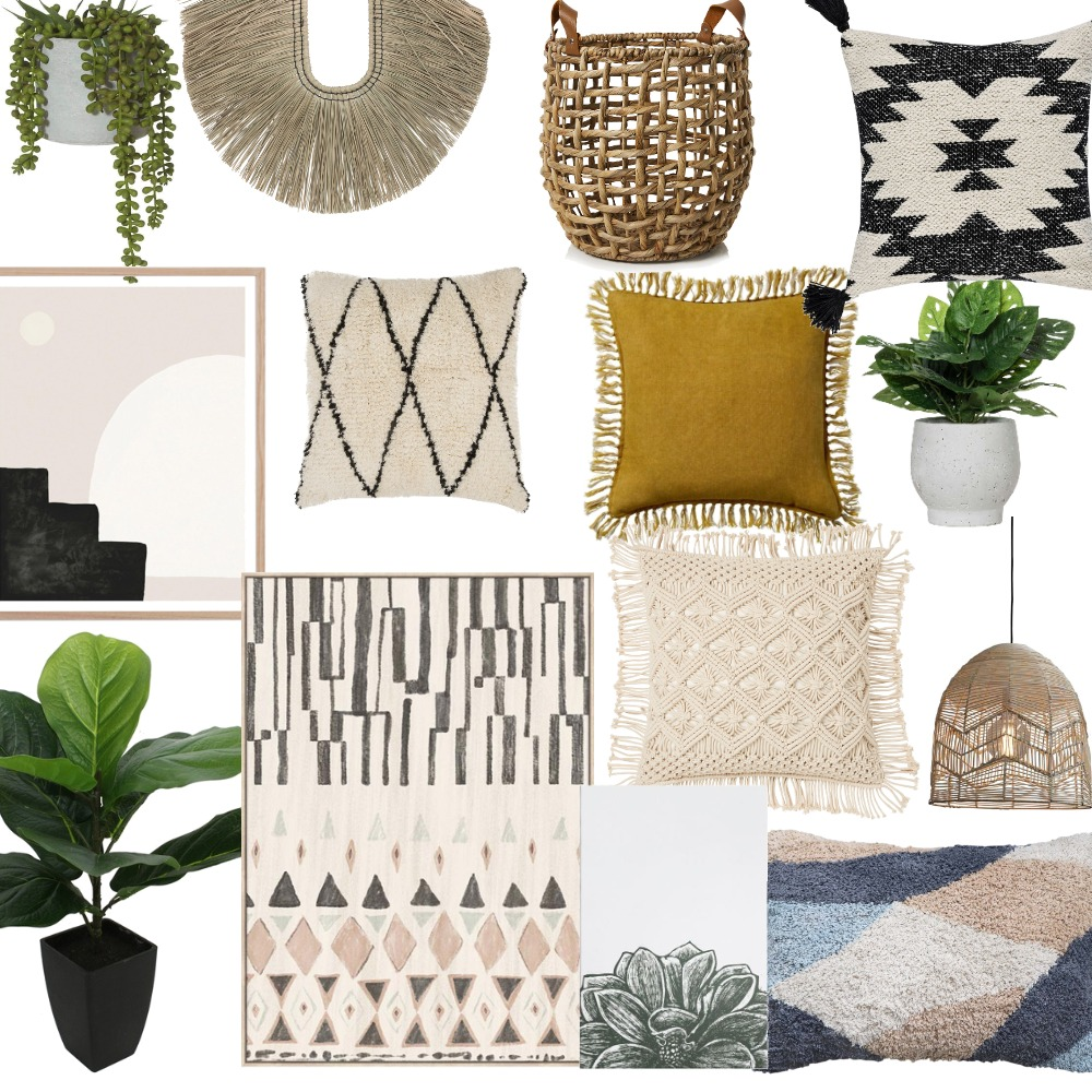 בוהו Interior Design Mood Board by moranjip on Style Sourcebook