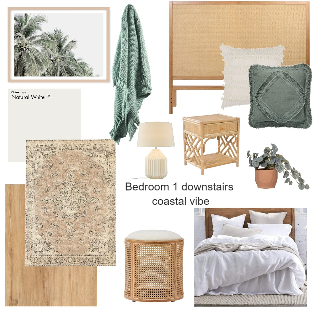 Bed1 Downstairs Coastal Vibe Interior Design Mood Board by SOSI on Style Sourcebook