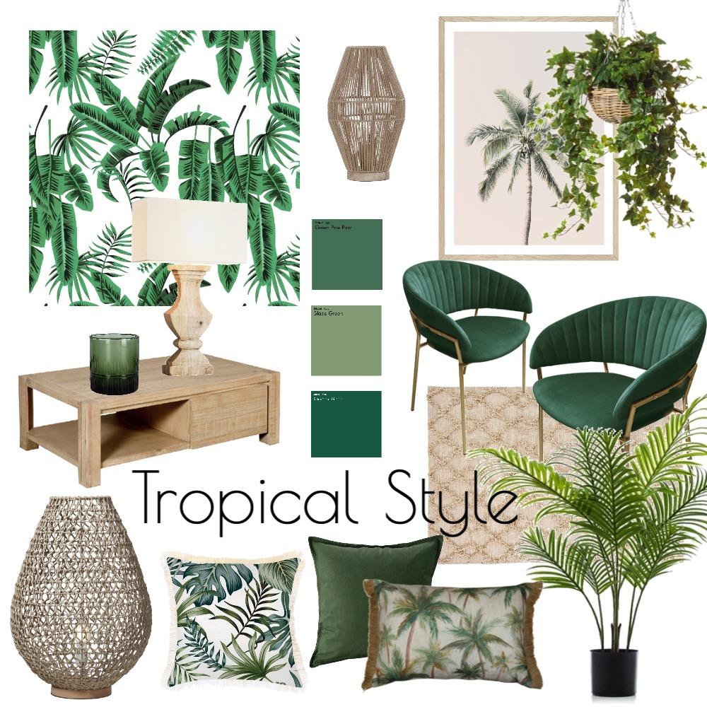Tropical Style Interior Design Mood Board by Bradisha Benjamin on Style Sourcebook