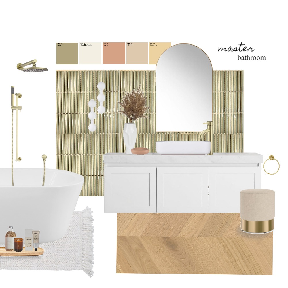 Master Bathroom Interior Design Mood Board by Patricia.interiorismo on Style Sourcebook