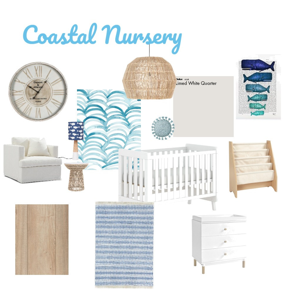 M3 Coastal Nursery Interior Design Mood Board by Miranda Ducharme on Style Sourcebook