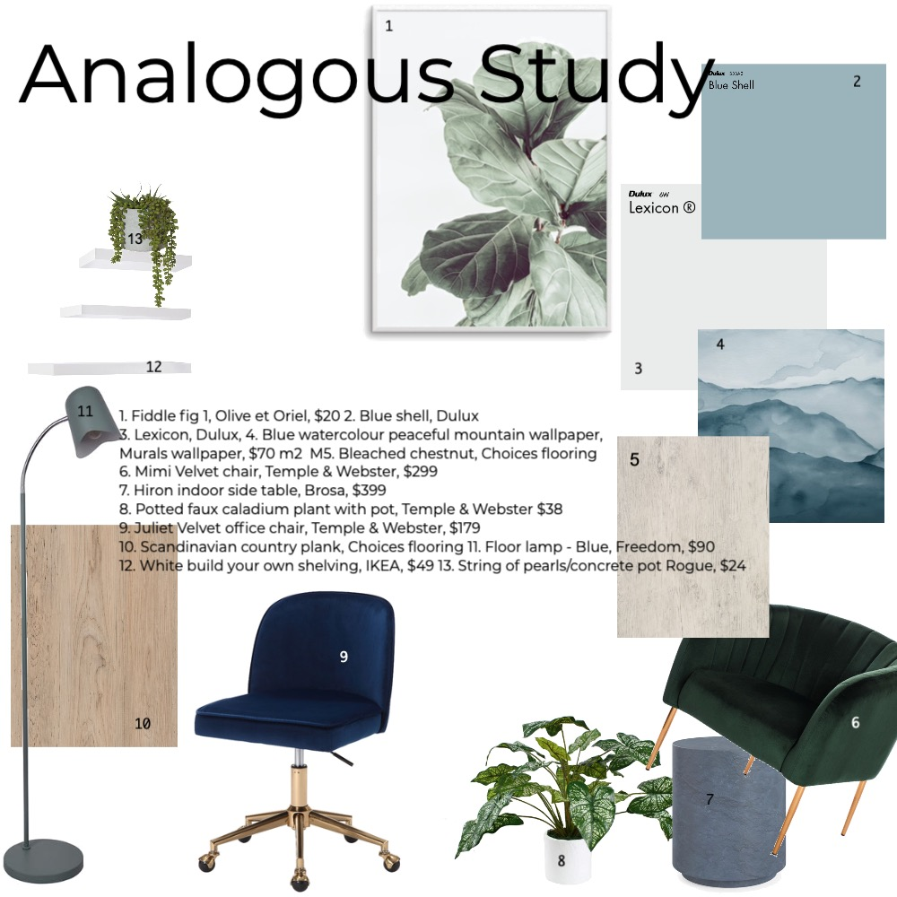 Study Interior Design Mood Board by vic.wales on Style Sourcebook