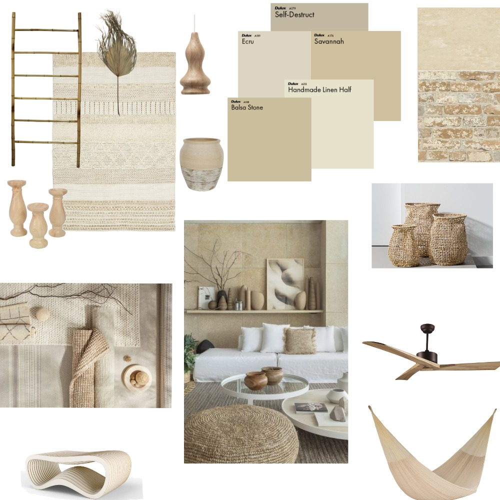 Organic Boho Interior Design Mood Board by MarinaElian on Style Sourcebook