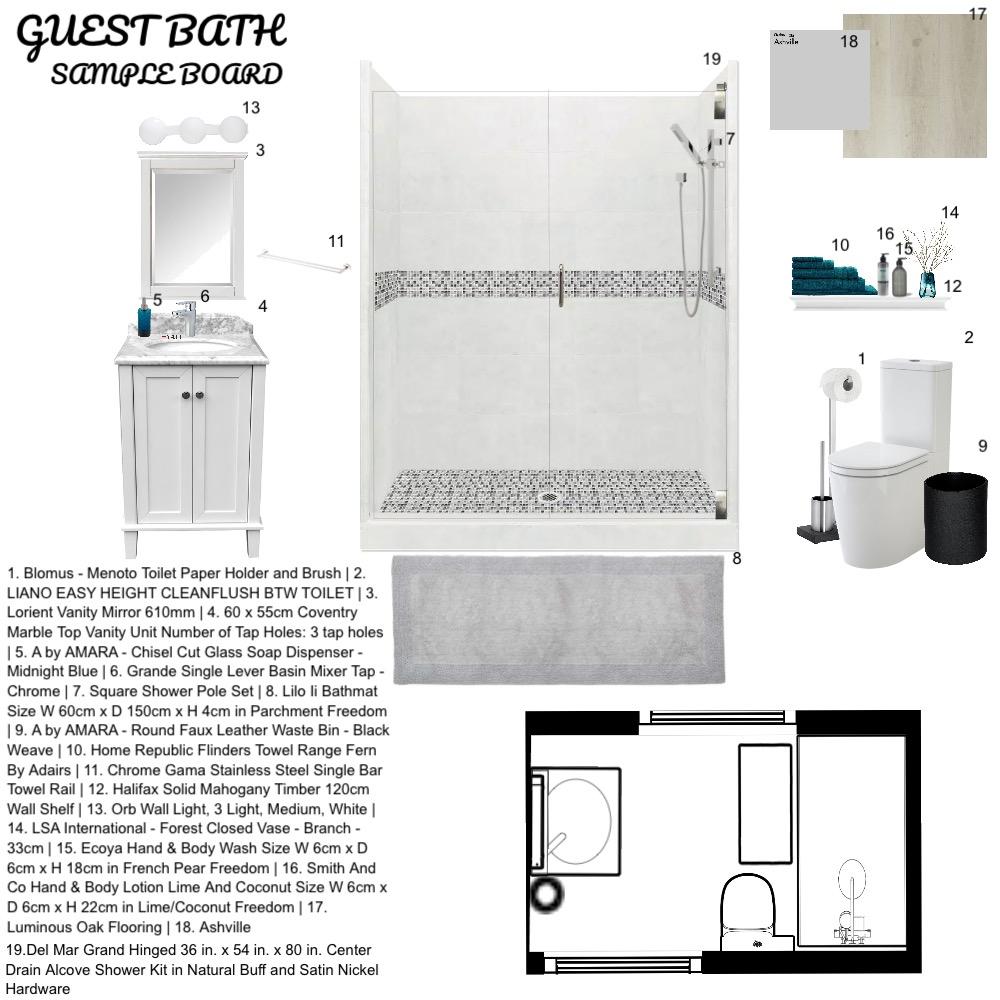 Guest bath Interior Design Mood Board by Debbie Wells on Style Sourcebook