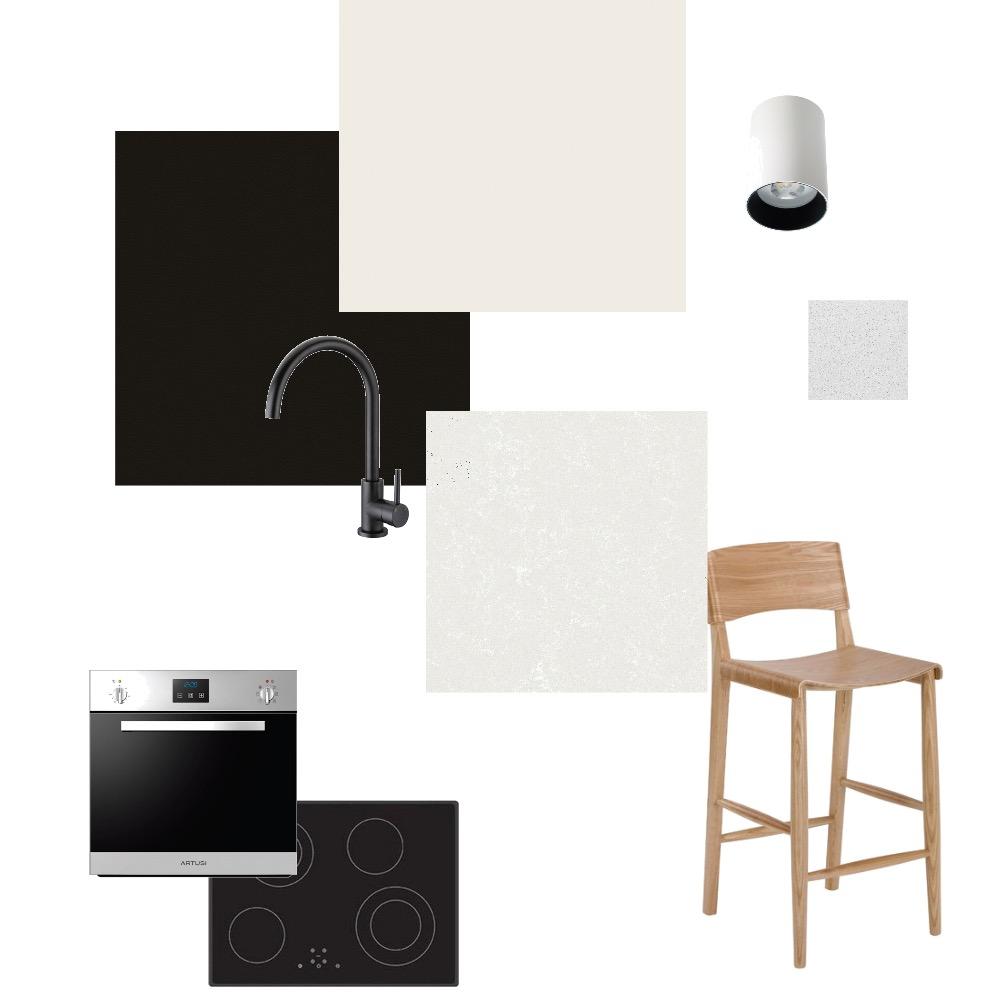 Kitchen monochrome Interior Design Mood Board by Philomeni on Style Sourcebook