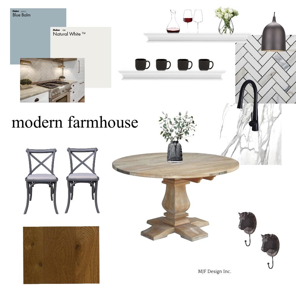 Modern Farmhouse Kitchen Module 3 Interior Design Mood Board by MJF Design Inc. on Style Sourcebook