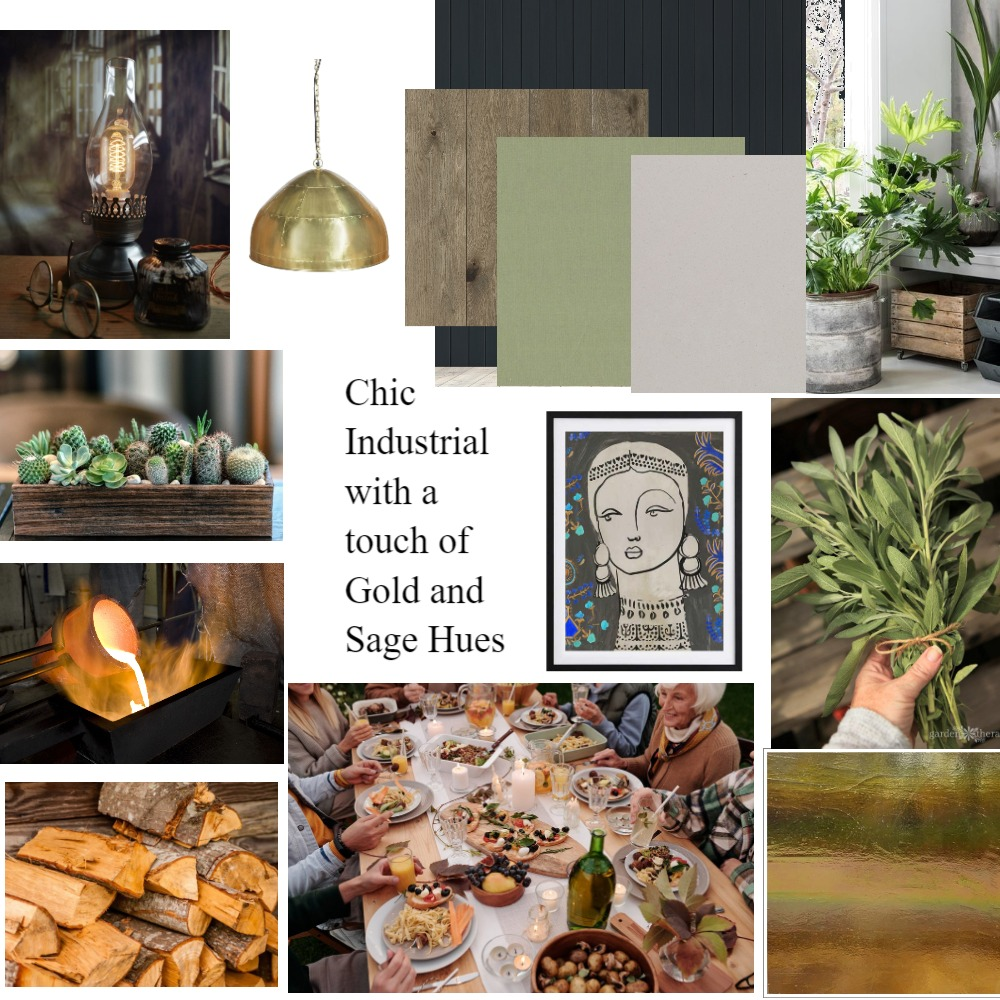 Chic Industrial Dinning Room 2 Interior Design Mood Board by kathvick on Style Sourcebook