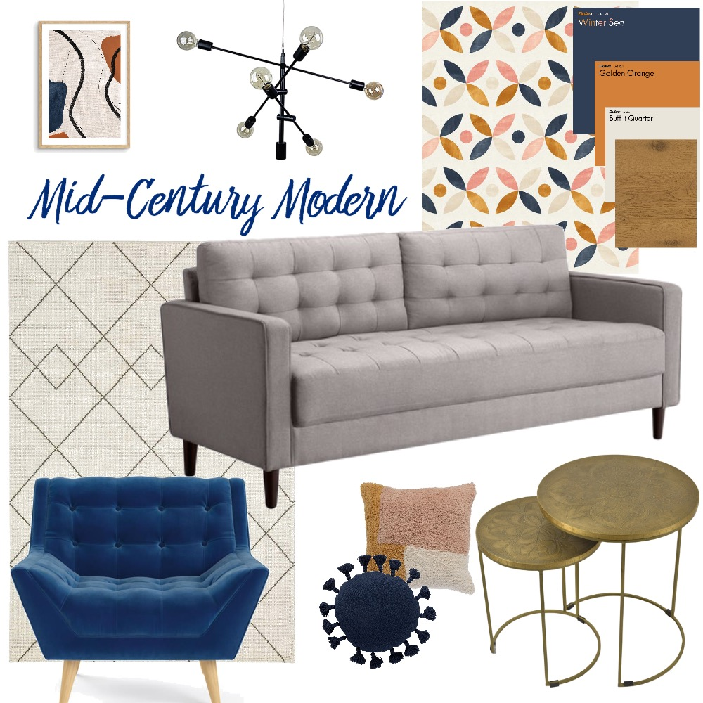 Mid-Century Modern Interior Design Mood Board by evaughan on Style Sourcebook