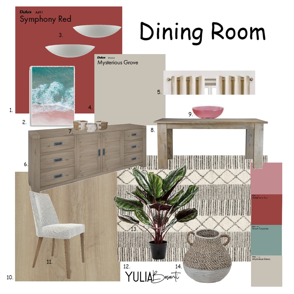 Dining area 5 Interior Design Mood Board by Jumo12 on Style Sourcebook