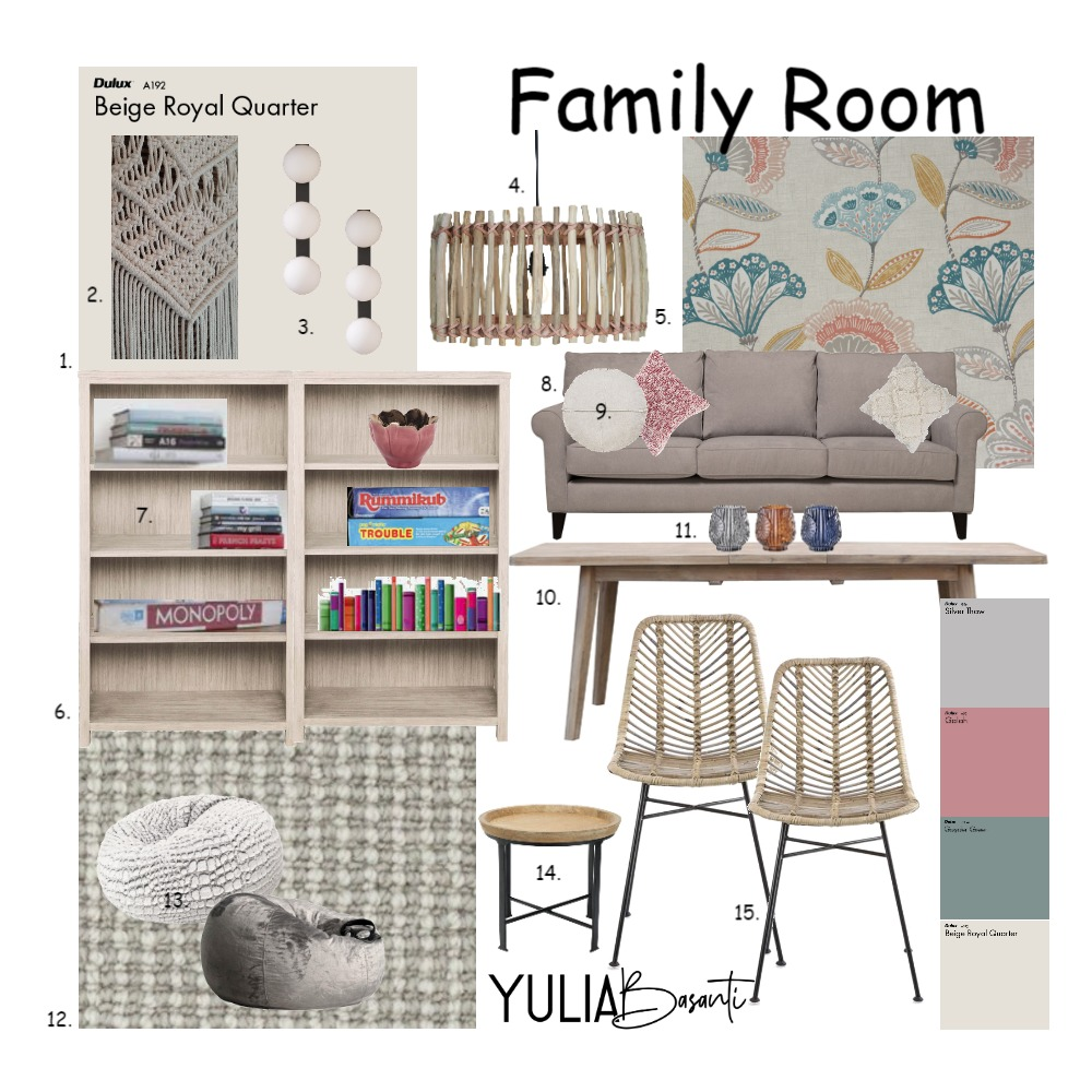 Family Room 2 Interior Design Mood Board by Jumo12 on Style Sourcebook