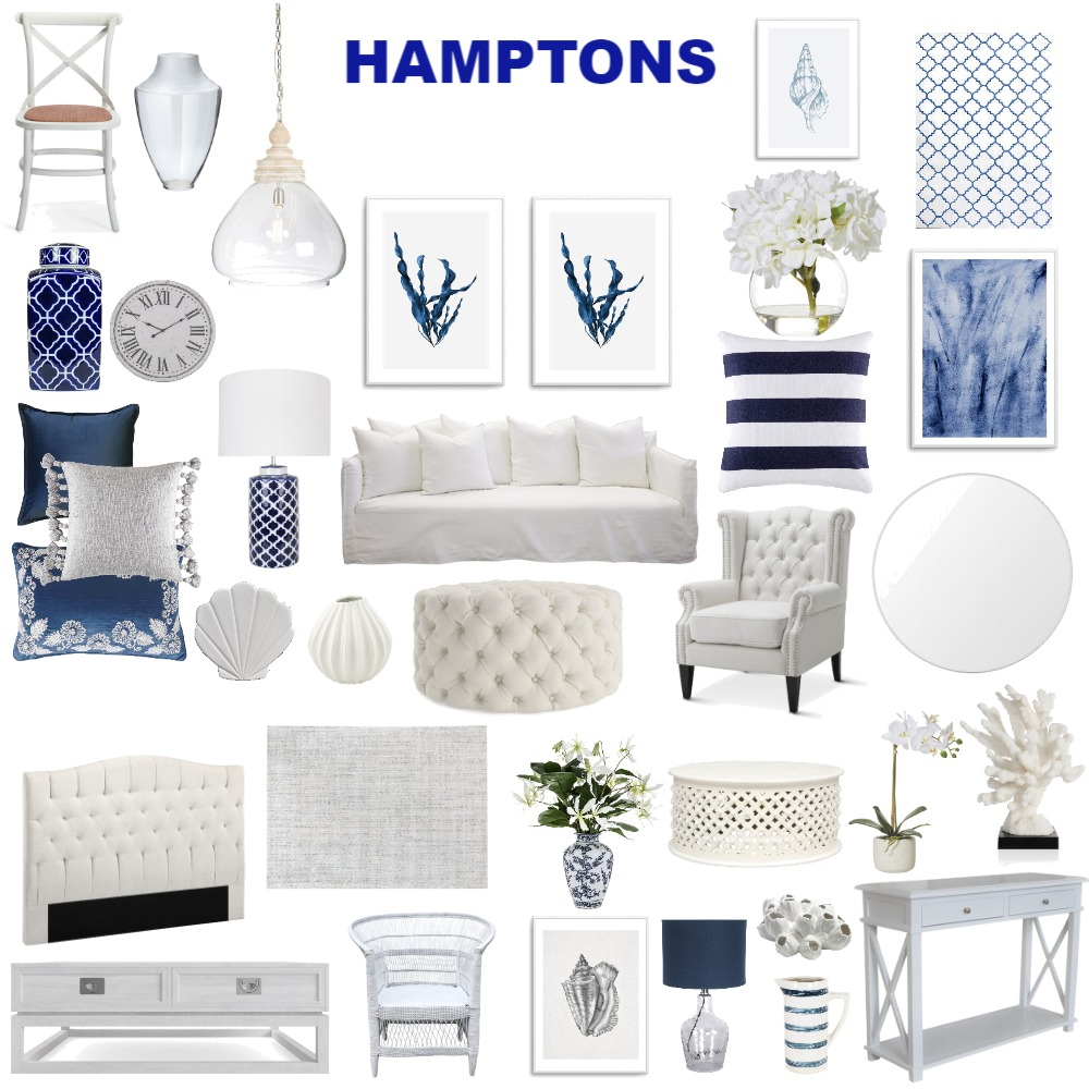 HAMPTONS Interior Design Mood Board by asroche on Style Sourcebook