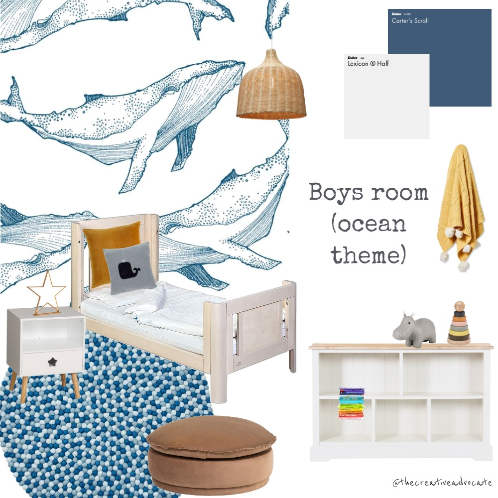 Boys bedroom (ocean theme) Interior Design Mood Board by thecreativeadvocate on Style Sourcebook