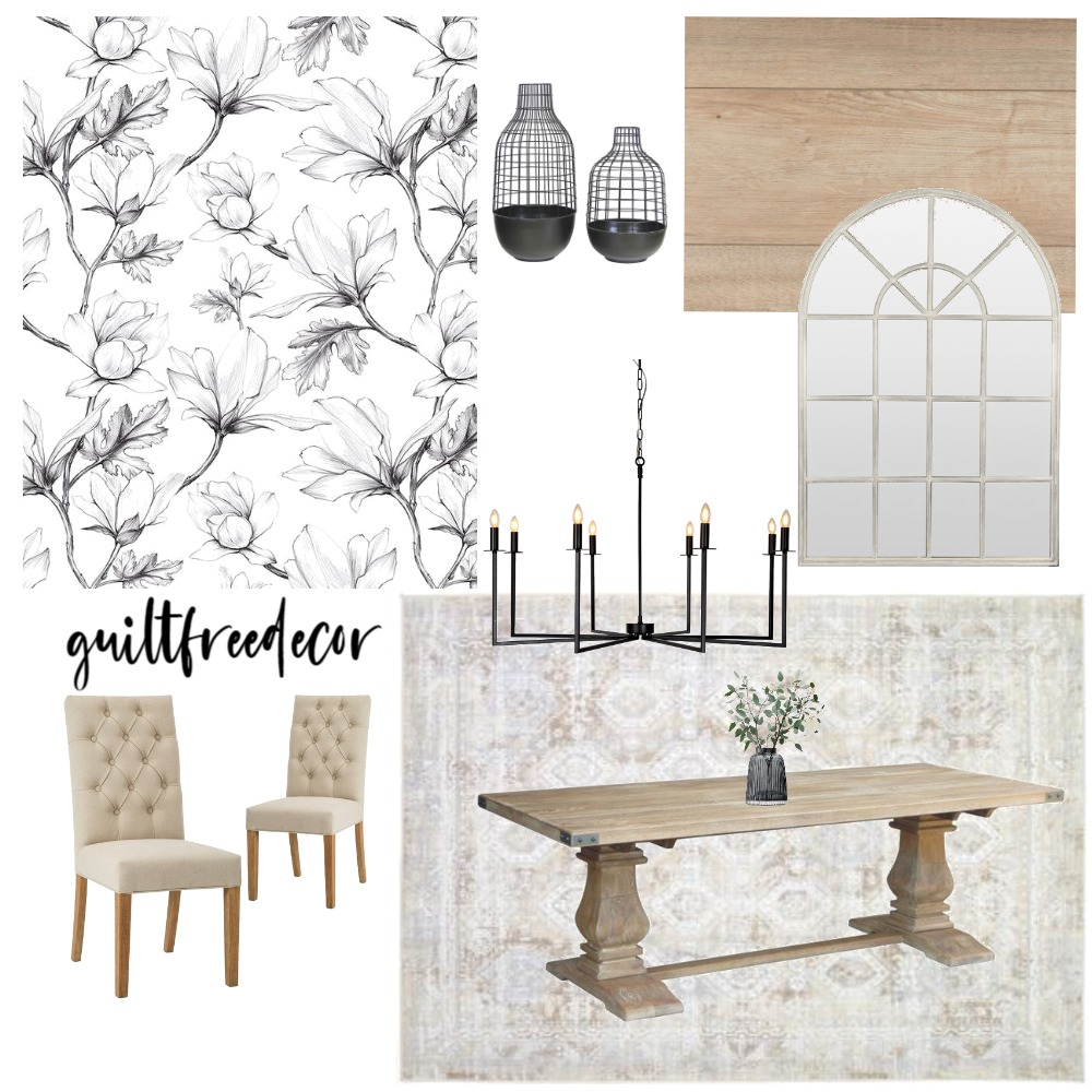 Modern Farmhouse Dining Interior Design Mood Board by guiltfreedecor on Style Sourcebook
