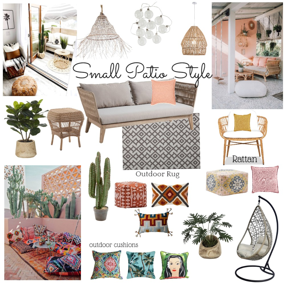 Small Patio Style Interior Design Mood Board by Lisa Olfen on Style Sourcebook