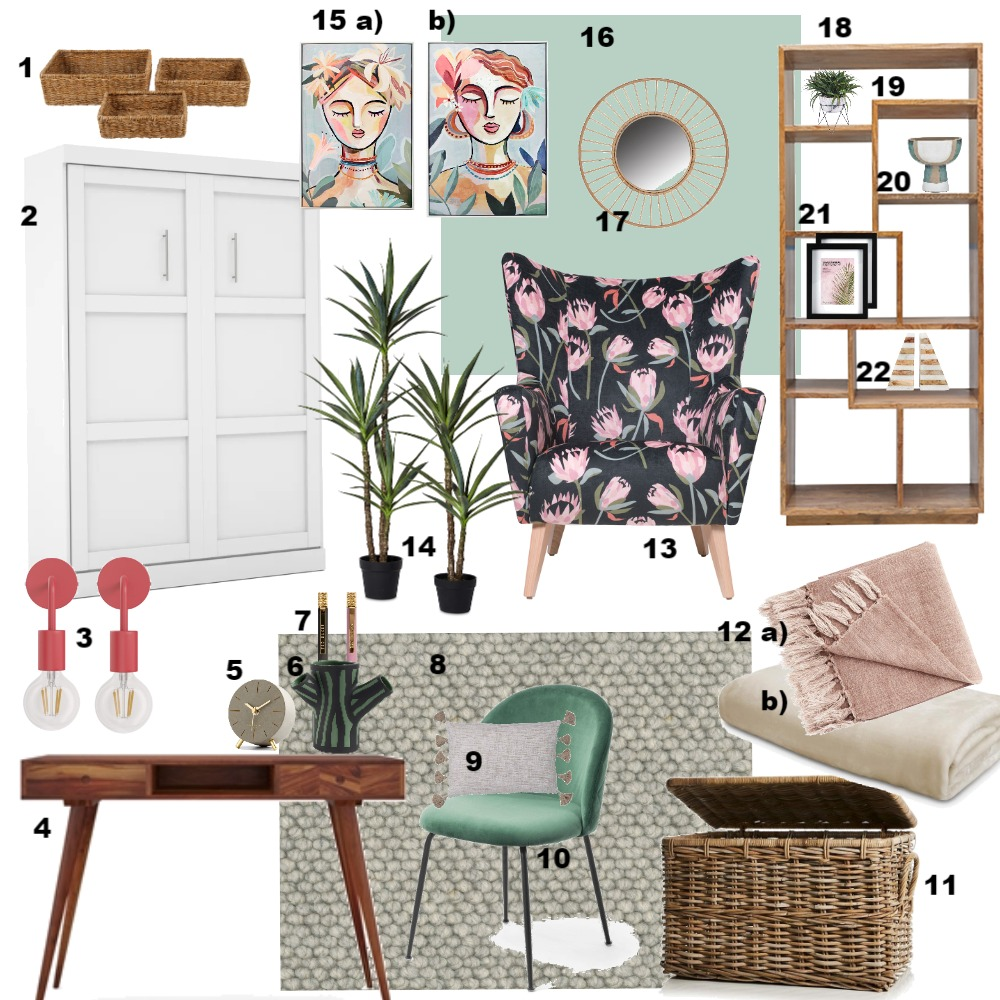 Complementary Study/Guest Room Interior Design Mood Board by Linsey on Style Sourcebook