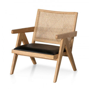 Castro Rattan Armchair - Distress Natural and Black Seat by Interior Secrets - AfterPay Available by undefined, a Chairs for sale on Style Sourcebook