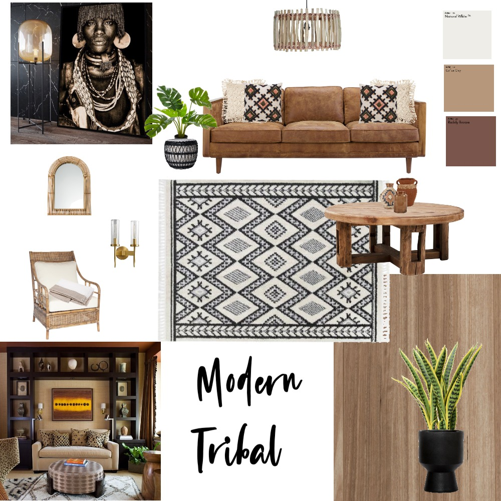 Modern Tribal Interior Design Mood Board by KirstenK on Style Sourcebook