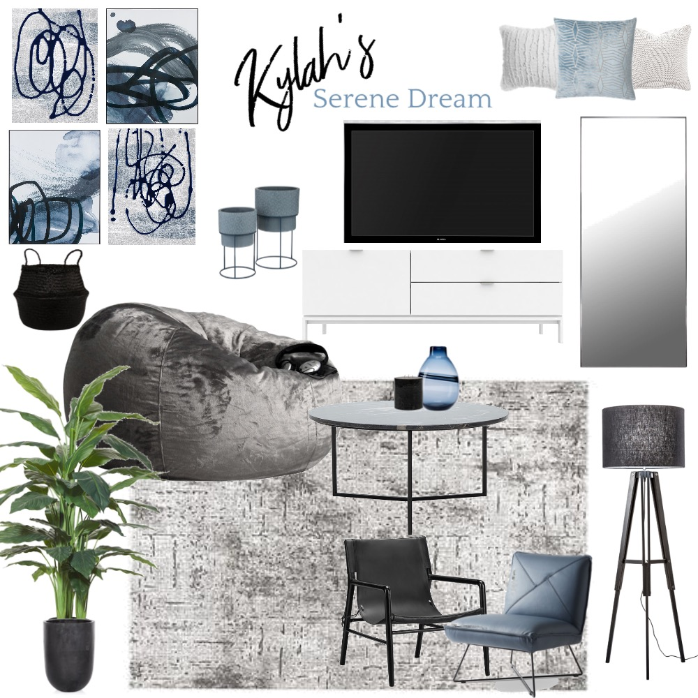 Kylah's Serene Dream Interior Design Mood Board by Preemium Designs on Style Sourcebook