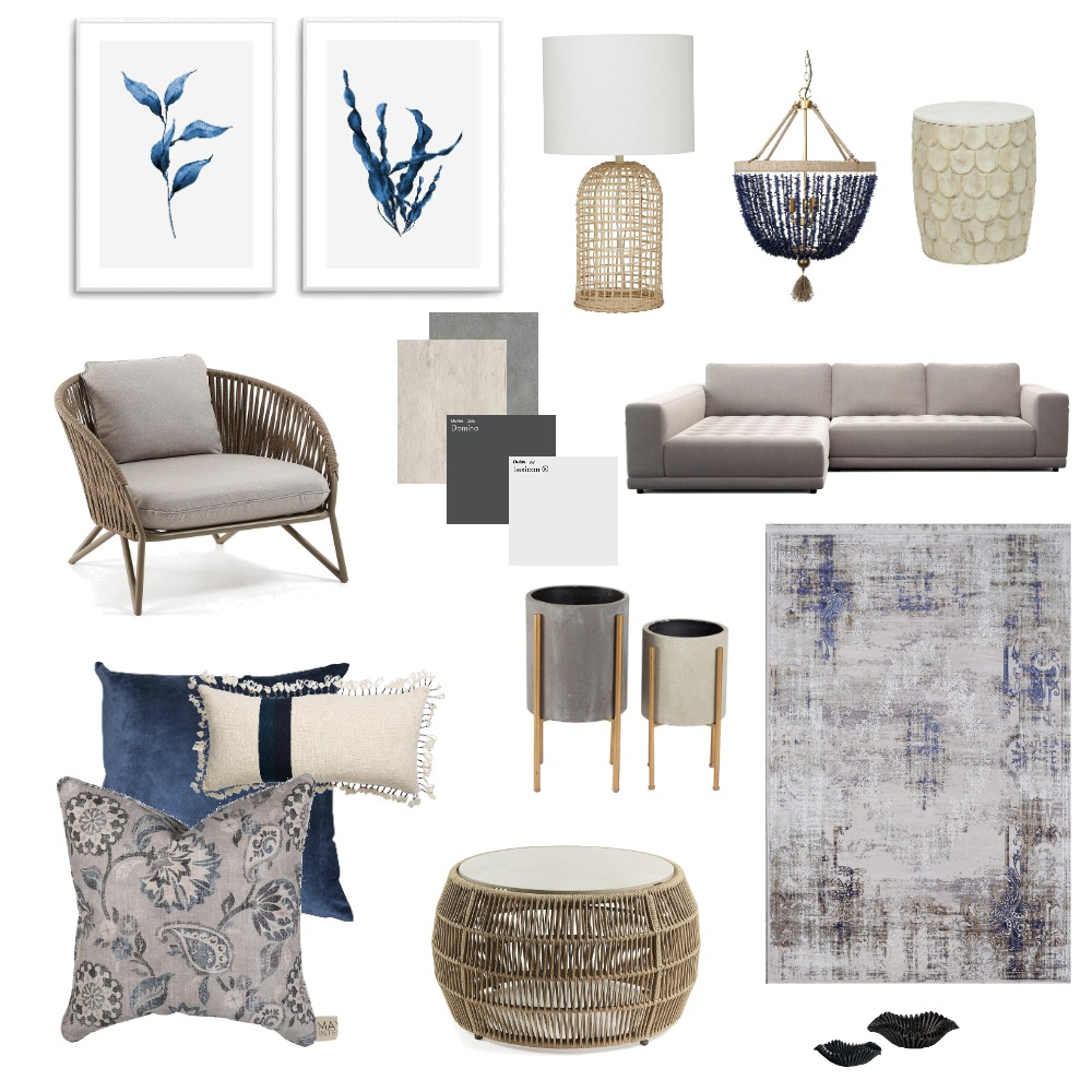 coastal Interior Design Mood Board by katept on Style Sourcebook
