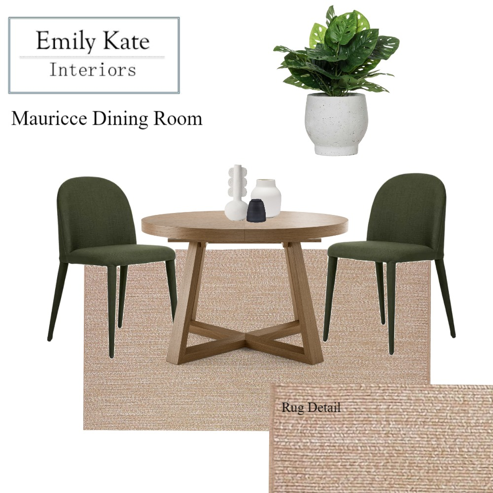Mauricce Dining Interior Design Mood Board by EmilyKateInteriors on Style Sourcebook