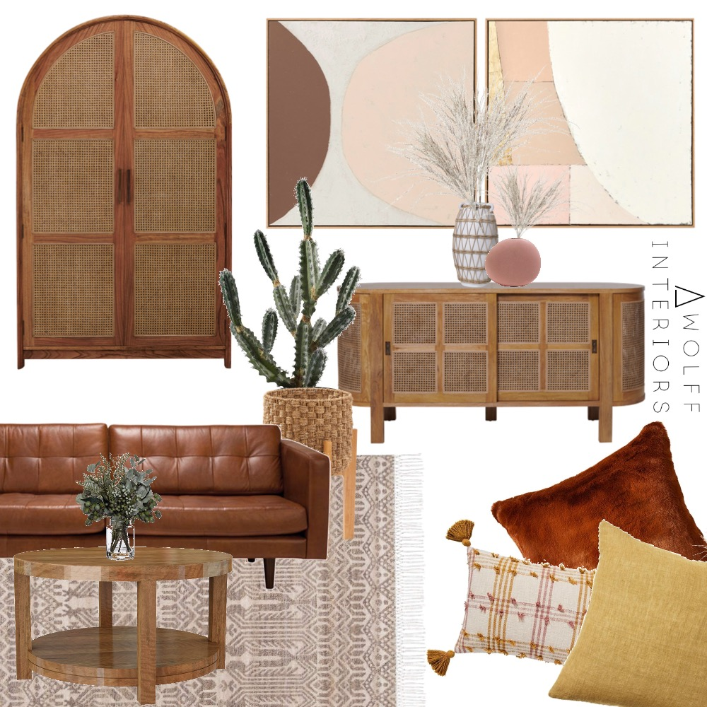Terracotta Lounge Interior Design Mood Board by awolff.interiors on Style Sourcebook