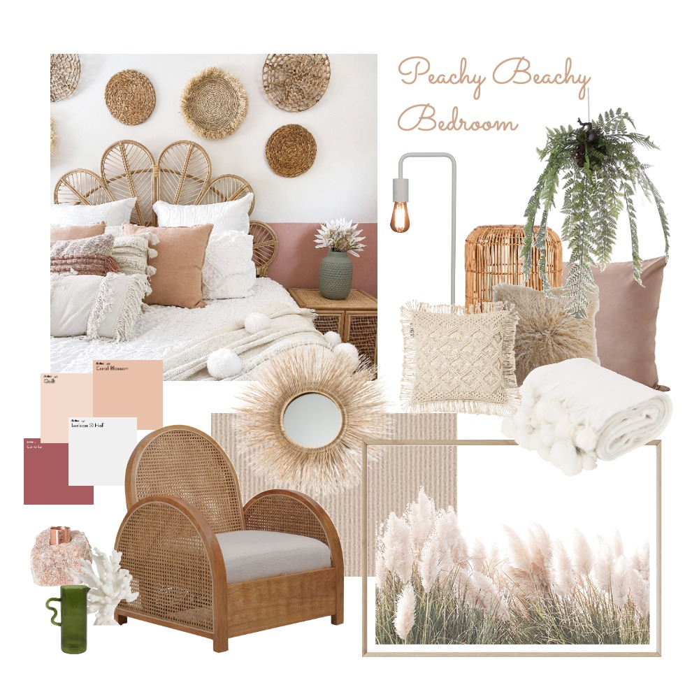 Peachy Beachy Interior Design Mood Board by ZAMinteriors on Style Sourcebook