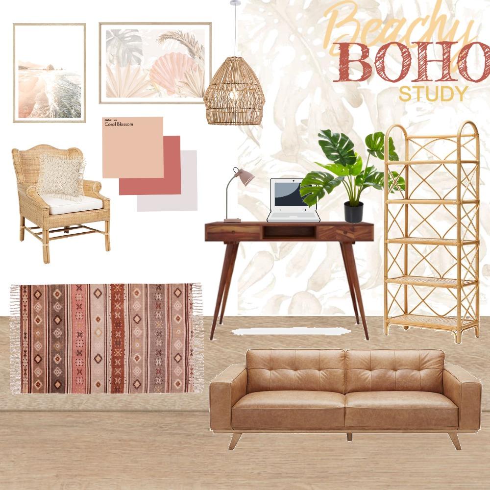 Beachy Boho Study 2 Interior Design Mood Board by BTdesigns on Style Sourcebook
