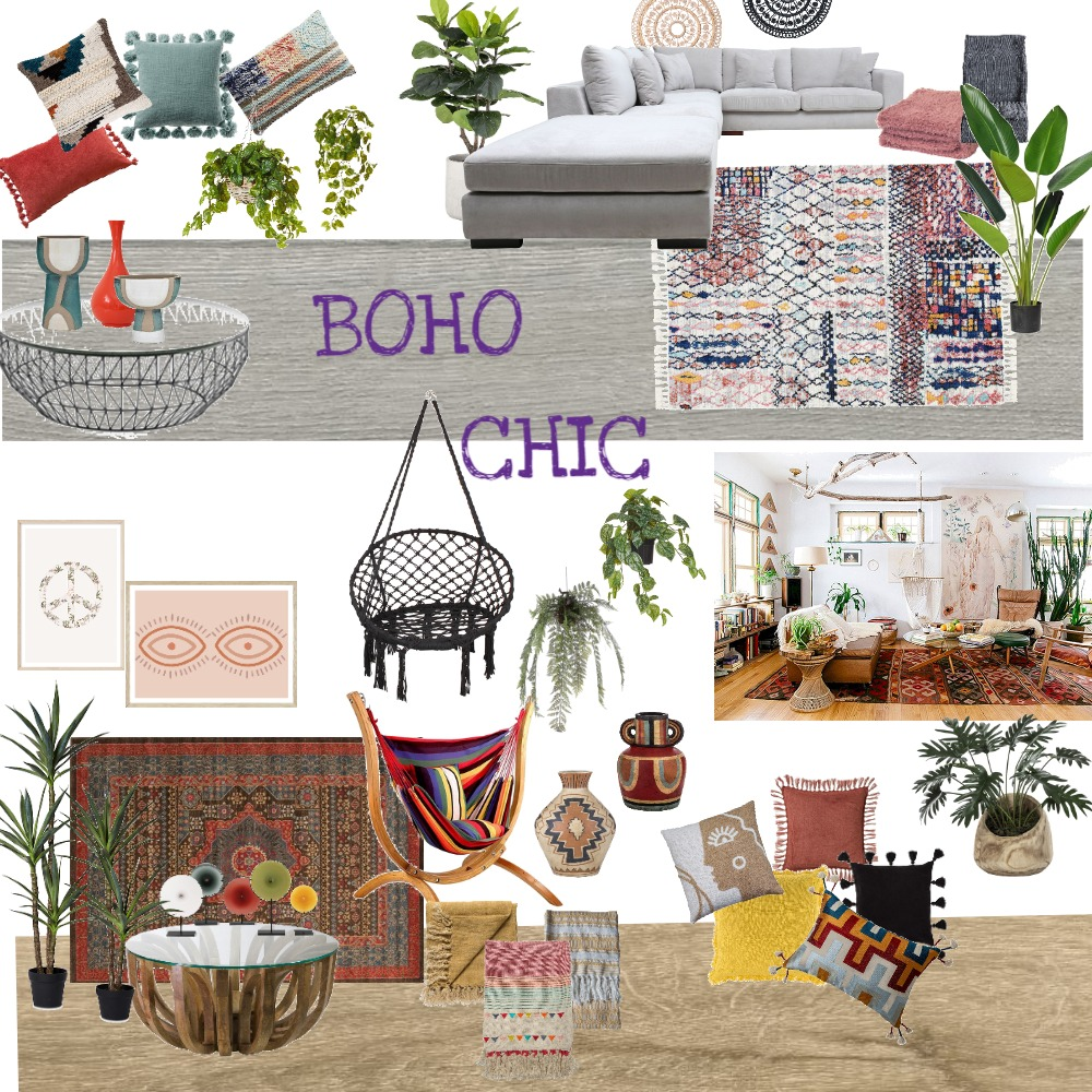 BOHO CHIC Interior Design Mood Board by Louise Eilers on Style Sourcebook