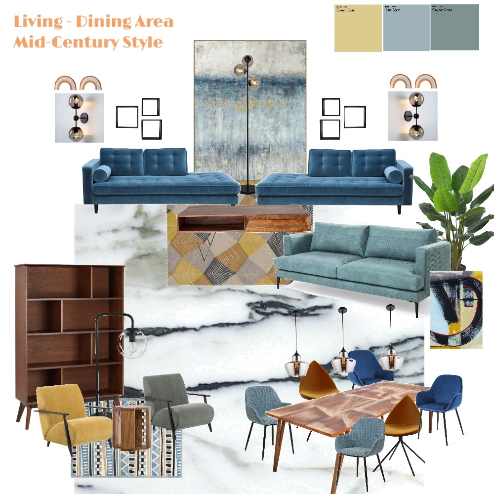 Anita's Living_Dining Area Interior Design Mood Board by Kingi on Style Sourcebook
