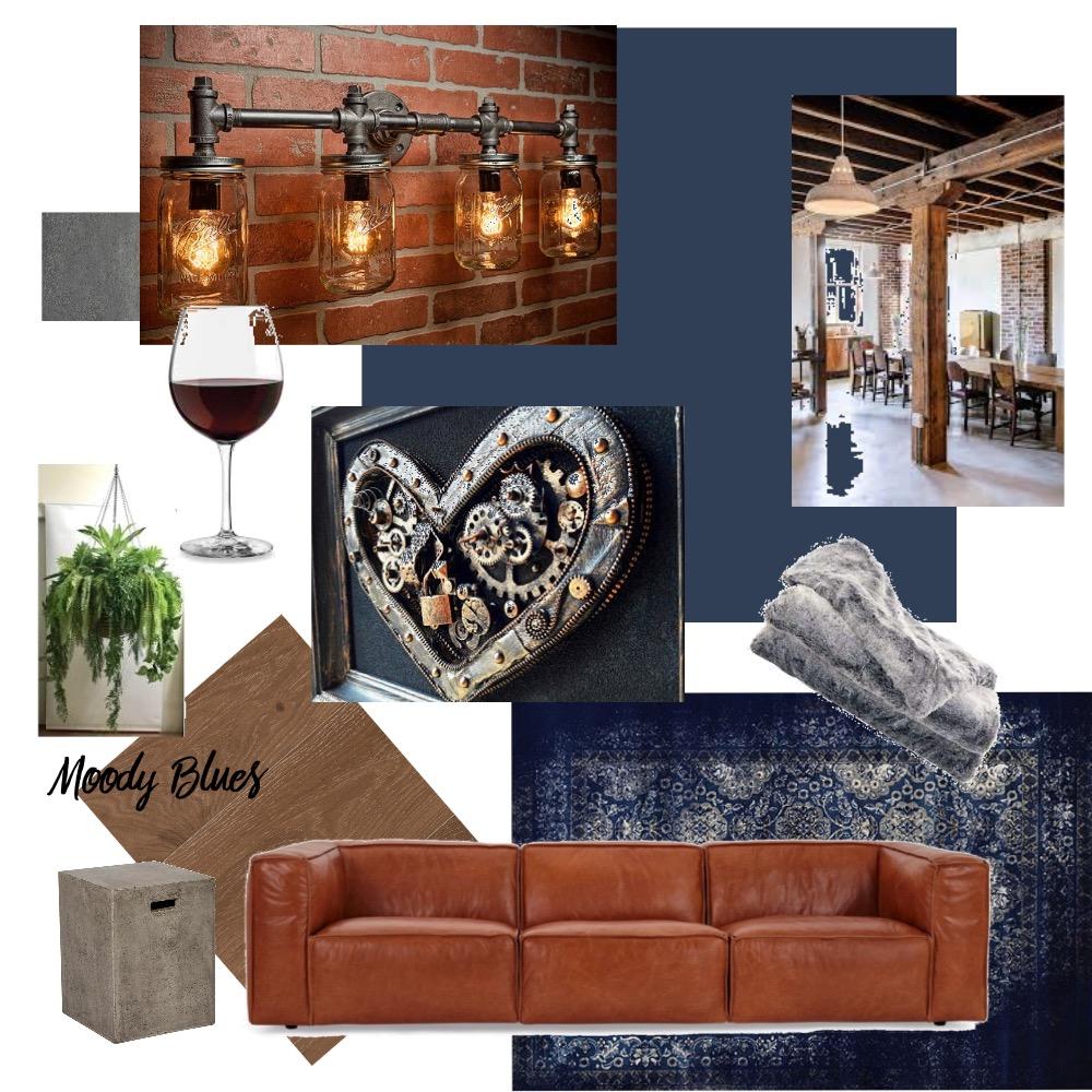 Industrial Mood Board Interior Design Mood Board by Margie Ferguson on Style Sourcebook