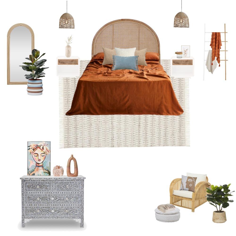 Bedroom Modern Boho Interior Design Mood Board by MelissaKW on Style Sourcebook