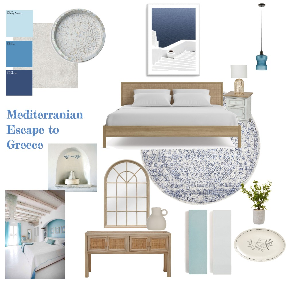 Mediterranean Escape to Greece Interior Design Mood Board by Jhatzis on Style Sourcebook