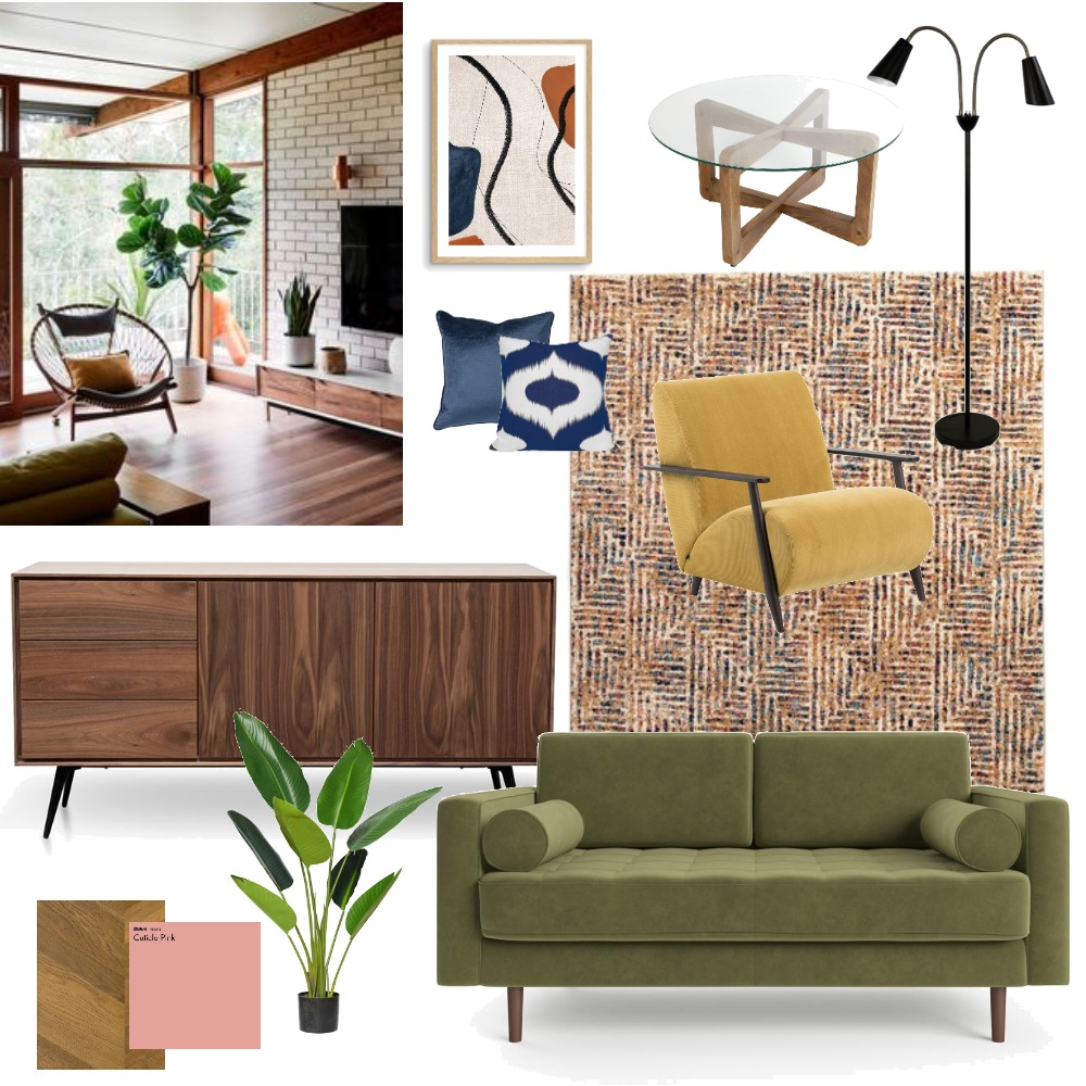 Mid century Interior Design Mood Board by teganjf on Style Sourcebook