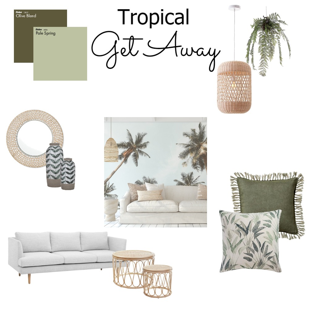Tropical Get Away Interior Design Mood Board by MikaelaJaye on Style Sourcebook