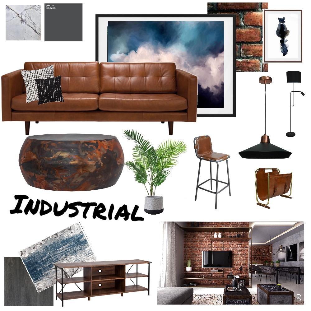 Industrial Interior Design Mood Board by SamRandle on Style Sourcebook