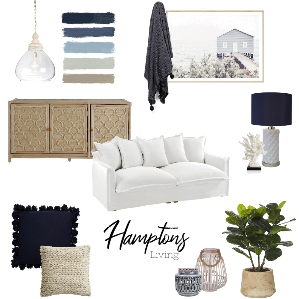 Hamptons Living Interior Design Mood Board by MikaelaJaye on Style Sourcebook