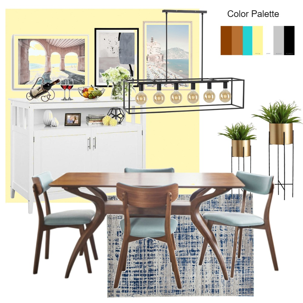 Dining Area Interior Design Mood Board by Hetama on Style Sourcebook