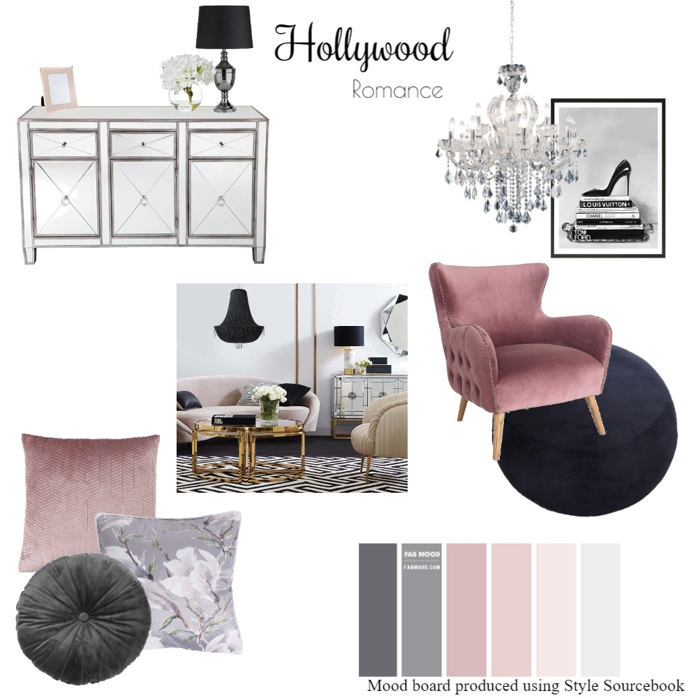 Hollywood Romance Interior Design Mood Board by MikaelaJaye on Style Sourcebook