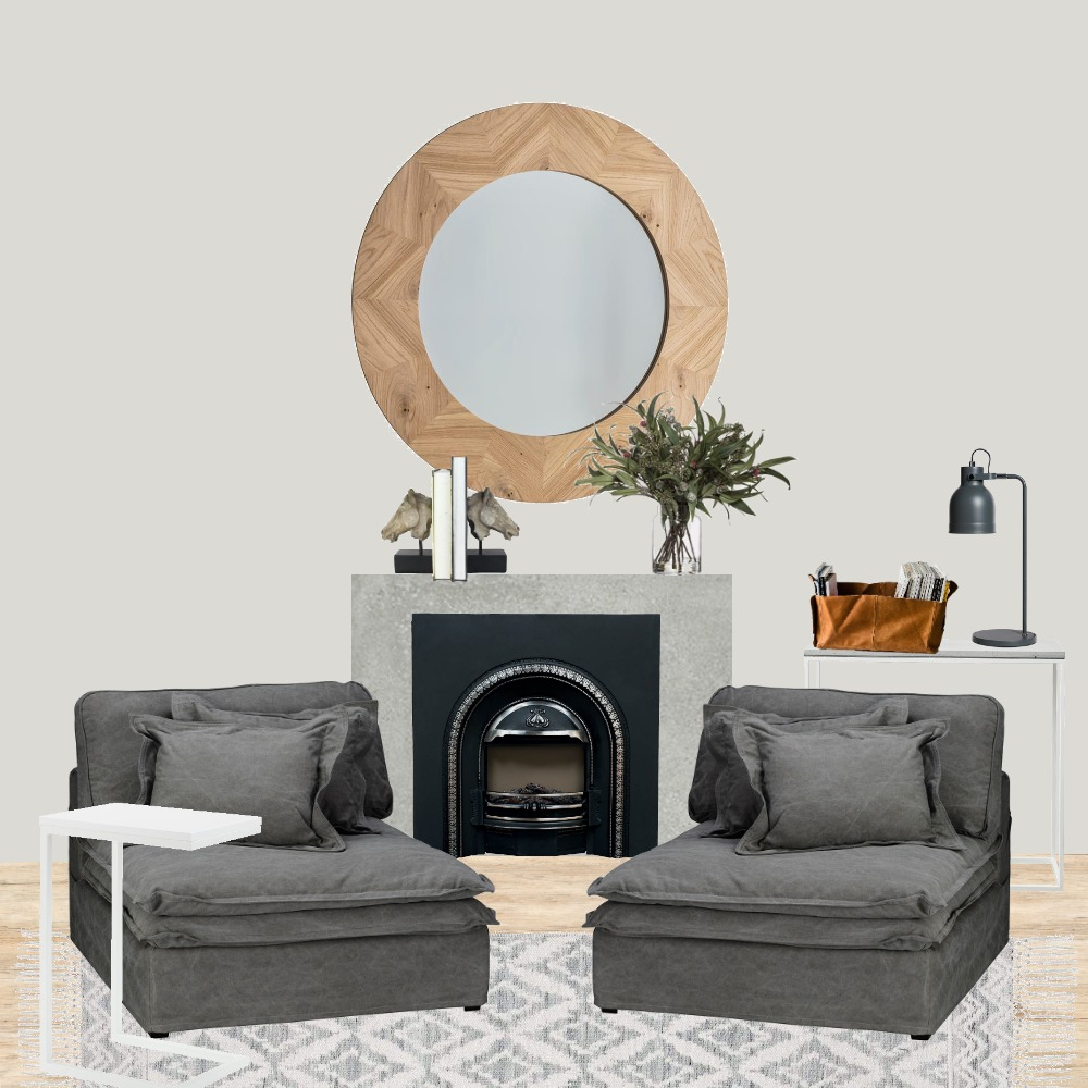 Scandinavian home office living space 2 Interior Design Mood Board by gloriamavial on Style Sourcebook