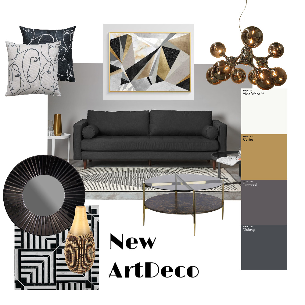 New ArtDeco Interior Design Mood Board by avokneturam on Style Sourcebook