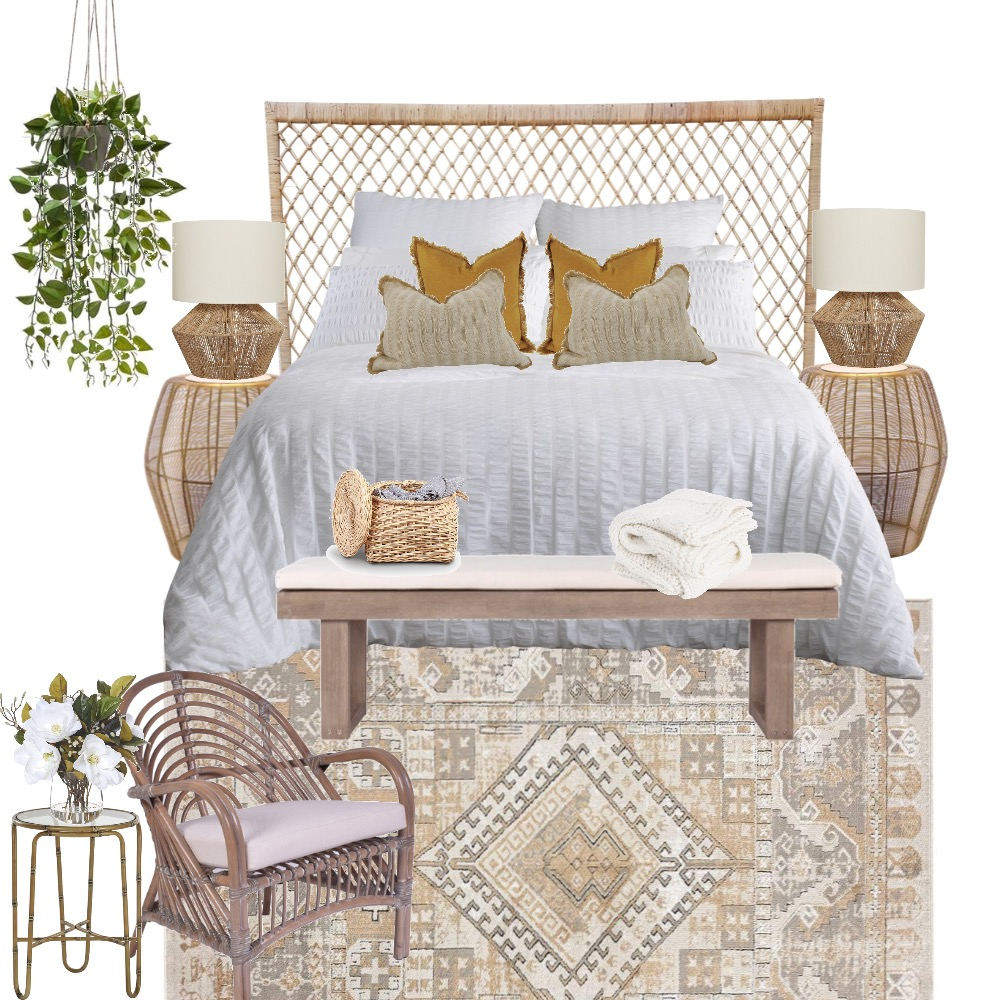 Natural layered bedroom Interior Design Mood Board by Simplestyling on Style Sourcebook