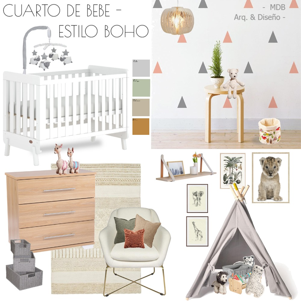 BABY BOHO STYLE 2 Interior Design Mood Board by MACARENABROCHERO on Style Sourcebook
