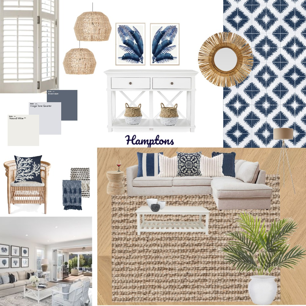 Hamptons Mood Board Interior Design Mood Board by Tania Rigby on Style Sourcebook